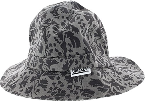 Grizzly Springfield Camo Bucket S/M-Grey Skate Hat (Bucket Hat Grizzly)