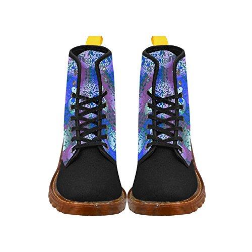 Leinterest Color Mix Skull Martin Botas Zapatos De Moda Para Mujer