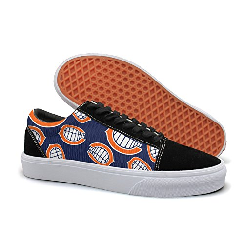 Designsonic Chicago Basketball Full Tooth Logo Woman Skate Shoe Athletic Trainers Low Top