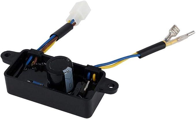 Alupre 1PCS regulador de Voltaje del rectificador monofásico AVR for 2KW-3KW generador de la Gasolina