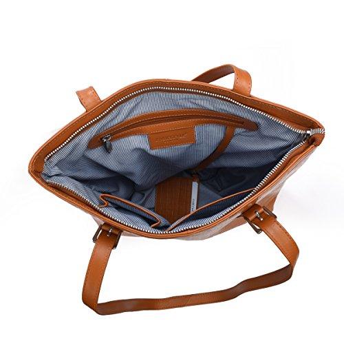 HYDESTYLE , Damen Tote-Tasche rust