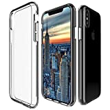Protective Phone Case For iPhone X By My Gadget Shops: Slim iPhone 10 Cover, Dual Layer Hard PC Shell And Soft TPU, Non-Slip And Anti-Scratch, Apple Smartphone Drop Protection (Clear)