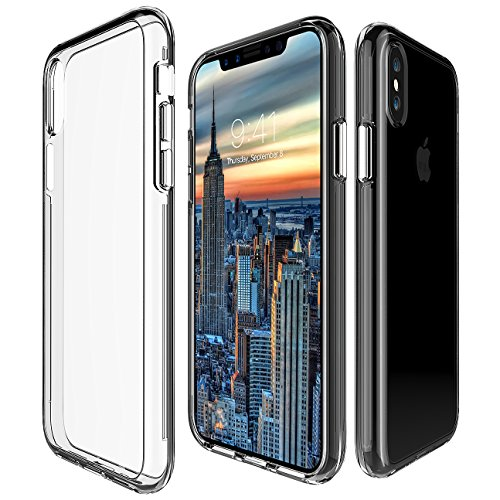 Protective Phone Case For iPhone X By My Gadget Shops: Slim iPhone 10 Cover, Dual Layer Hard PC Shell And Soft TPU, Non-Slip And Anti-Scratch, Apple Smartphone Drop Protection (Clear) by My Gadget Shops