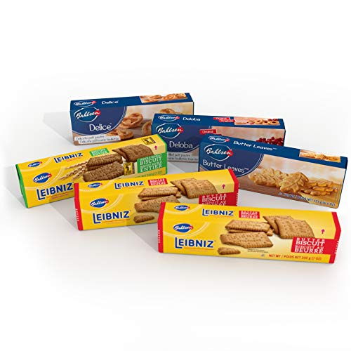 Bahlsen Lovers Sampler (6 Pack) | Leibniz, Delice, Deloba, Butter Leaves and Leibniz Whole Wheat (3.5, 4.4 and 7.0 ounce boxes)
