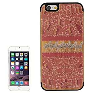 Mustang Pattern Wood Paste Black PC Back Shell Case for iPhone 6