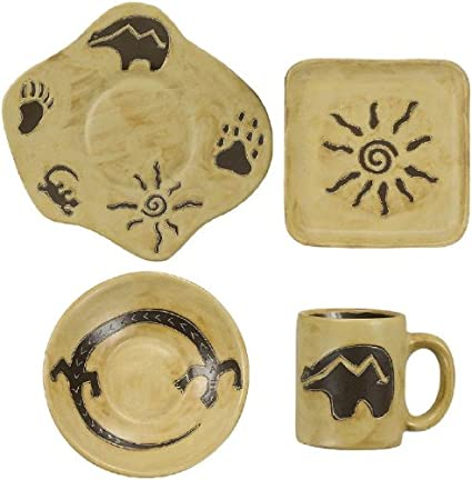 MARA STONEWARE COLLECTION - 16 Piece (4 Person) Odd Shaped Dinnerware Place Setting -  sc 1 st  Amazon.com & Amazon.com | MARA STONEWARE COLLECTION - 16 Piece (4 Person) Odd ...