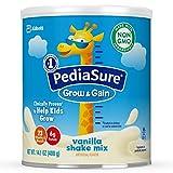 PediaSure Grow & Gain Non-GMO Shake Mix Powder, Nutritional Shake For Kids, With Protein, DHA, Antioxidants, and Vitamins & Minerals, Vanilla, 14.1 oz, 2 Count