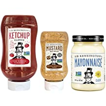 Sir Kensington's Condiments Variety Pack: Classic Ketchup, Mayonnaise and Spicy Brown Mustard, 3 Count