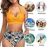 UMIPUBO-Donna-Costume-da-Bagno-Spiaggia-Estate-Swimwear-Capestro-Reggiseno-Balneare-Set-Beachwear-Intimo-Push-Up-Halter-Abiti-da-Spiaggia-Costumi-Mare-Bikini-Coordinati-Vita-Alta-Due-Pezzi
