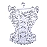 Metal Cutting Dies Skirt for Card Making, NOMSOCR Cut Die Metal Stencil Template Mould for DIY Scrapbook Embossing Album Paper Card Craft Birthday Festival Decoration (Beautiful Skirt)