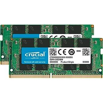 Crucial 32GB Kit (16GBx2) DDR4 2133 MT/s (PC4-17000) DR x8 SODIMM 260-Pin Memory - CT2K16G4SFD8213