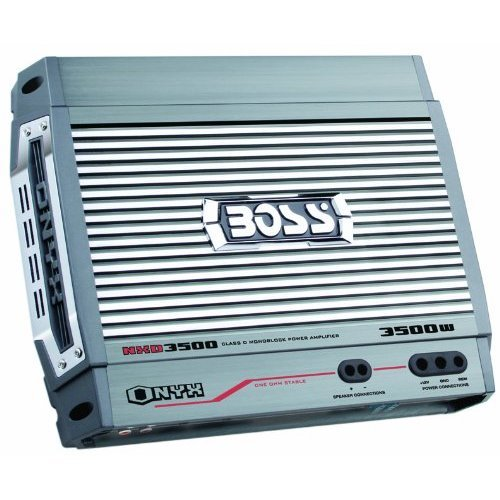 Boss Nx3000.4 Onyx 3000 Watt 4-channel Mosfet Bridgeable Amplifier With Remote Built-in Low- And High-pass Variable Crossovers; 18db Bass Boost Line And Speaker Level Inputs With Variable Gain Control