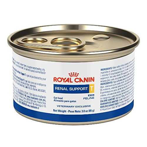 Amazon.com : Royal Canin Veterinary Diet Renal Support T Canned Cat Food 24/3 oz : Pet Supplies
