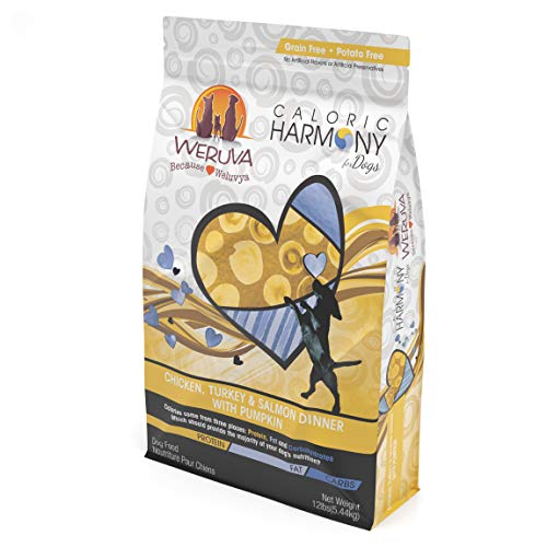 Weruva Caloric Harmony, Chicken, Turkey & Salmon Dinner With Pumpkin Dry Dog Food, 12Lb Resealable Bag For Sale