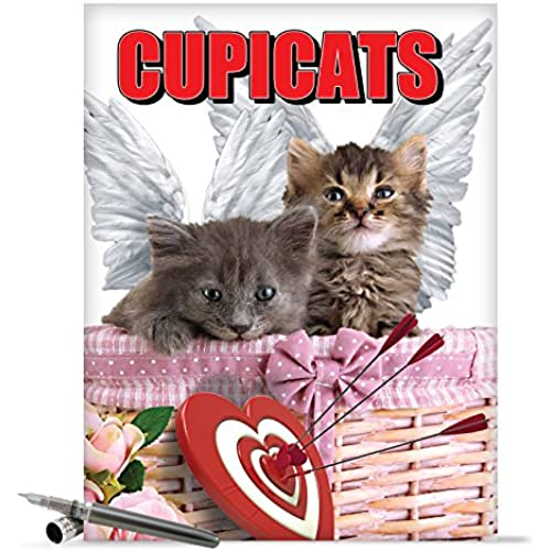 J2172 Jumbo Funny Valentine's Day Card: Cupicats With Envelope (Extra Large Version: 8.5 x 11) Sales
