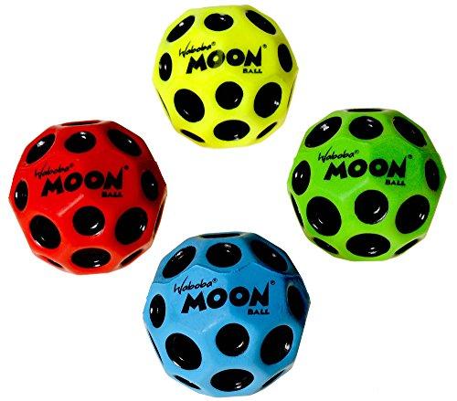 Waboba MOON Extreme Bounce Bundle of 4 Balls _ in 4 Neon Colors _ BONUS Soft Nylon Net Drawstring 9 x 12'' Royal Blue Carry Bag by Waboba (Image #6)