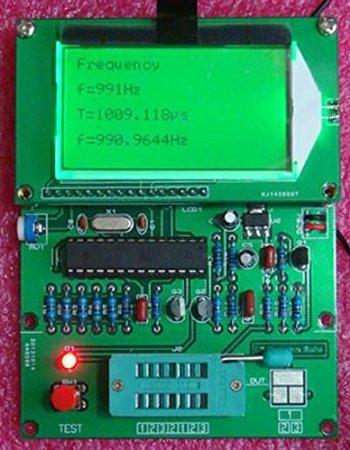 Lollipop GM328 LCD Display Transistor Tester ESR Meter Cymometer Square Wave Generator