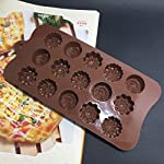 Gessppo 15-Cavity Silicone Cake Mold Flower Rose Chocolate Soap Mold Ice Tray Mold Baking Tools Resistant High Temperature Easy to Operate and Clean 8 ❤❤️Material:silicone-----Color:coffee-----Size:approx. 22 x 10.5 x 1.5cm; Diameter of each flower: approx. 2.9cm ❤❤️12 Cup Silicone Muffin - Cupcake Baking Pan / Non - Stick Silicone Mold / Dishwasher - Microwave Safe; 2Packs Silicone Mini Muffin Pan, Silicone Molds for Muffin Tins, Cupcake Baking Pan (Red);Ware Platinum Collection Heritage Bundt Pan ❤️❤️Reusable Silicone Baking Cups, Pack of 12; Silicone Cake Mold Magic Bake Snake-DIY Baking Mould Tool Design Your Pastry Dessert with Any Pan Shape, 4 PCS/lot Nonstick Flexible Reusable Easy to Use and Wash, Perfect Gift Idea for Your Love
