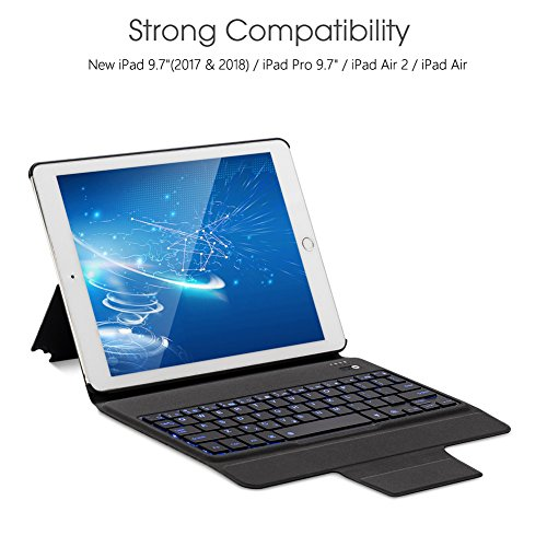 Apsung Keyboard Case New Tablet 9.7,Ultra-Thin Aluminum Portfolio Case, Wireless Smart Keyboard by Apsung (Image #2)