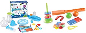 Learning Resources Splashology! Water Lab Science Kit, STEM Playtime, Water Activities, 19 Pieces, Ages 3+ & STEM Explorers: Magnet Movers, 39 Pieces