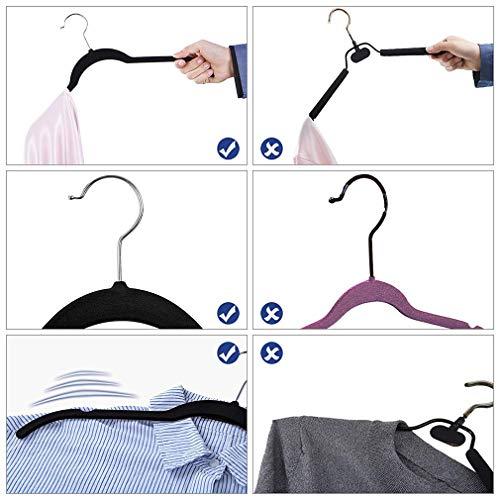 YifKoKo Kleiderbügel, Metall Kleiderbügel Multi-Felsen 5 in 1 Multilayer Eva Schwamm Anti-Rutsch Platzsparende für Erwachsene Jeans Shirts Hosen Mäntel (Schwarz-3)