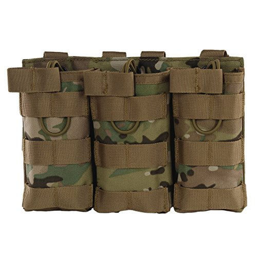 Sizet M4 M16 AR15 Magazine Pouch - Open Top Mag Holder - Triple / Double Airsoft MOLLE Mag Pouch (5 Colors available) (CP #3)