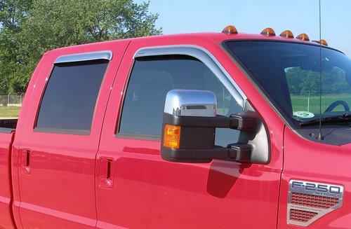 Stampede Truck Accessories 6123-8 Tape-Onz Sidewind Deflector - 4 Door - ()