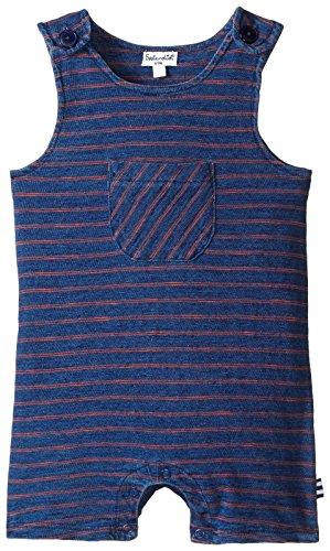 - Splendid Baby Boys' Pocket Romper, Dark Stone Stripe, 0-3 mO