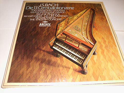 Bach - Die 13 Cembalokonzerte - 4 LP vinyl Box - Trevor Pinnock - Archiv digital R 215351 - Harpsichord Concertos ()