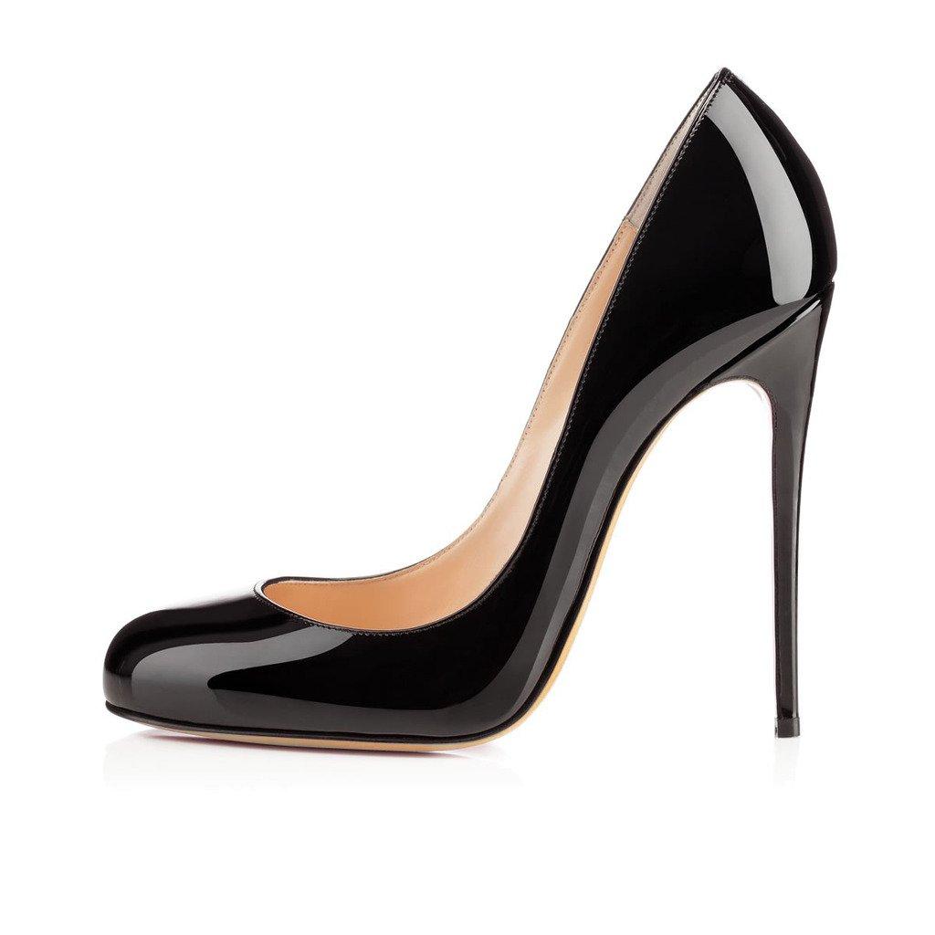 Elashe damen High Heel Pumps Pumps Pumps  12cm Round Toe Stiletto Pumps   Classic Sexy Court schuhe ac21d5