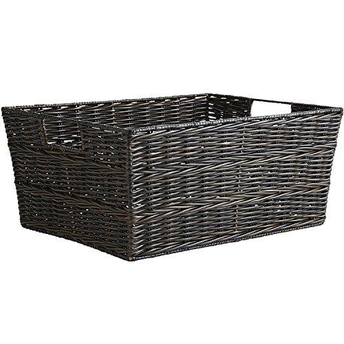 Pier 1 Imports Collin Mocha Hand-Woven Large Shelf Storage Basket by Pier 1 Imports