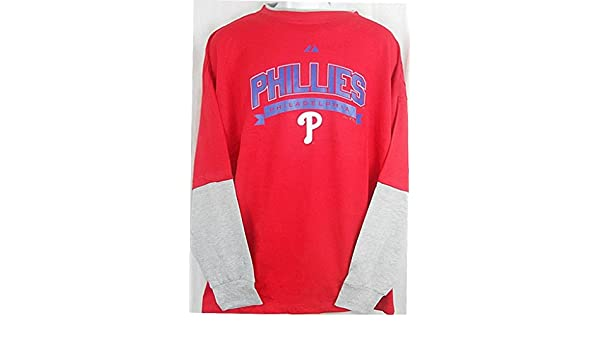 Amazon.com   VF Philadelphia Phillies Long Sleeve Name   Logo Majestic Shirt  Big   Tall Sizes (6XL)   Sports   Outdoors 6f30dc304