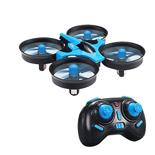 FILIND RC Quadcopter Drone H36 Mini UFO Drone 2.4G 4CH 6 Axis Headless Mode Remote Control One Key Return Nano Quadcopter RTF Mode 2 (Blue) by FILIND