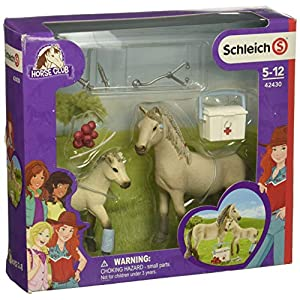 Schleich Horse Club Hannah's First-Aid Kit Figurine Toy Play Set, Multicolor