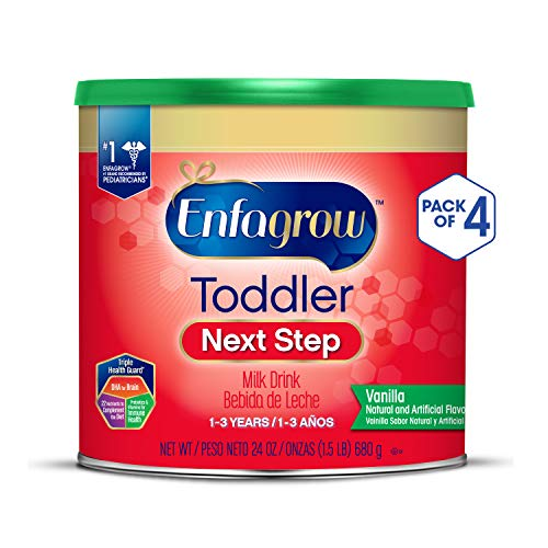 - Enfagrow Toddler Next Step, Vanilla Flavor - Powder Can, 24 oz (Pack of 4)
