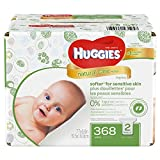 Health & Personal Care : Huggies Natural Care Wipes, Fragrance Free, 368 Count