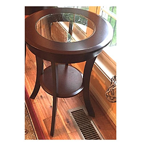 Traditional Entryway (Rustic Entryway Table End Coffee Round Side Furniture Contemporary Traditional Accent & eBook OISTRIA)