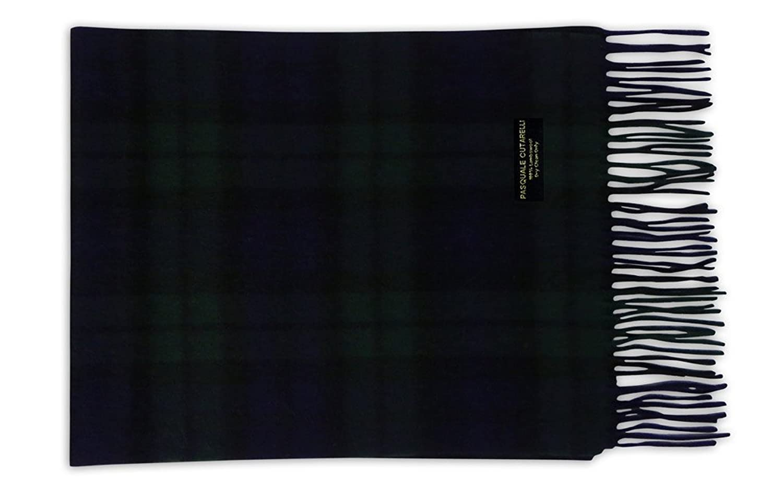 Pasquale Cutarelli Unisex lana negro reloj Tartan bufanda (wat-w)