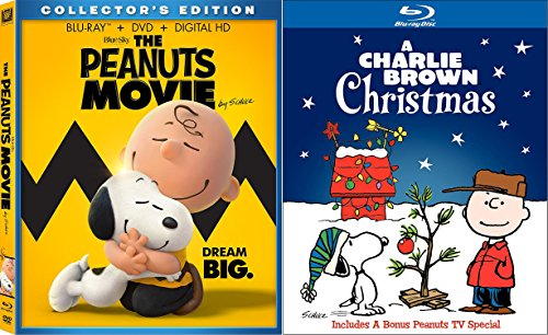 amazoncom peanuts holiday blu ray collection the peanuts movie 2016 blu raydvddigital combo a charlie brown christmas 2 movie bundle charlie