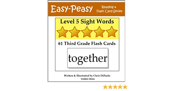 level 5 sight words 61 third grade flash cards easy peasy reading