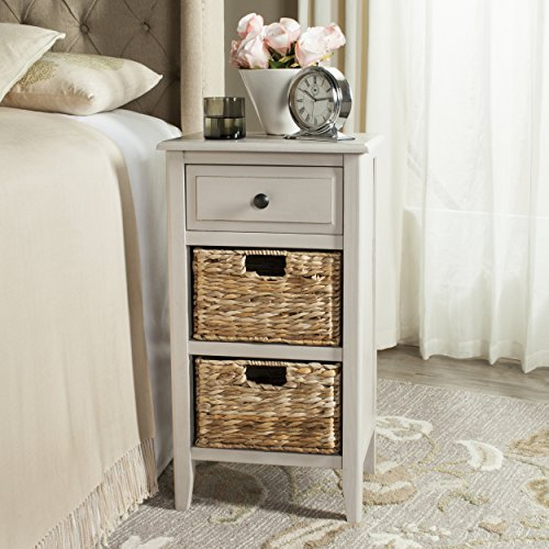 (Safavieh American Homes Collection Everly Vintage Grey Side Table)