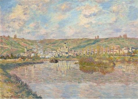 The Perfect Effect Canvas Of Oil Painting 'Claude Monet - Late Afrternoon, Vetheuil, 1880' ,size: 18x25 Inch / 46x64 Cm ,this Reproductions Art Decorative Canvas Prints Is Fit For Garage Decor And Home Decoration And Gifts
