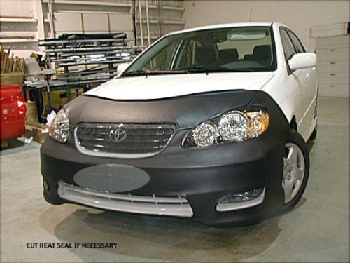 Corolla Front End Mask - Lebra 2 piece Front End Cover Black - Car Mask Bra - Fits - TOYOTA,COROLLA,,XRS & S Only,2005 thru 2007