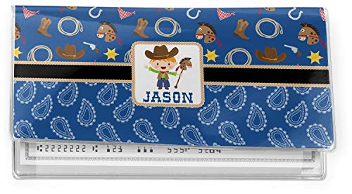 Blue Western Vinyl Checkbook Cover (Personalized)