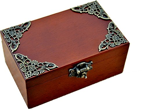 Anakin.jerry Vintage Wood Rectangle Jewelry Wind Up Music Box : When you wish upon a star (soundtrack)