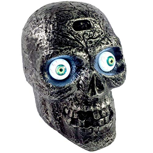 Halloween Light Activated Screamers (Liberty Imports Motion and Sound Activated Skull with Glowing Eyes and Creepy Sounds - Halloween Prop)