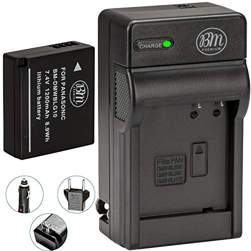 BM Premium DMW-BLG10 Battery and Battery Charger for Panasonic Lumix DC-GX9, DC-LX100 II, DC-ZS200, DC-ZS70, DMC-GX80, DMC-GX85, DMC-ZS60, DMC-ZS100, DMC-GF6, DMC-GX7K, DMC-LX100K Digital Cameras