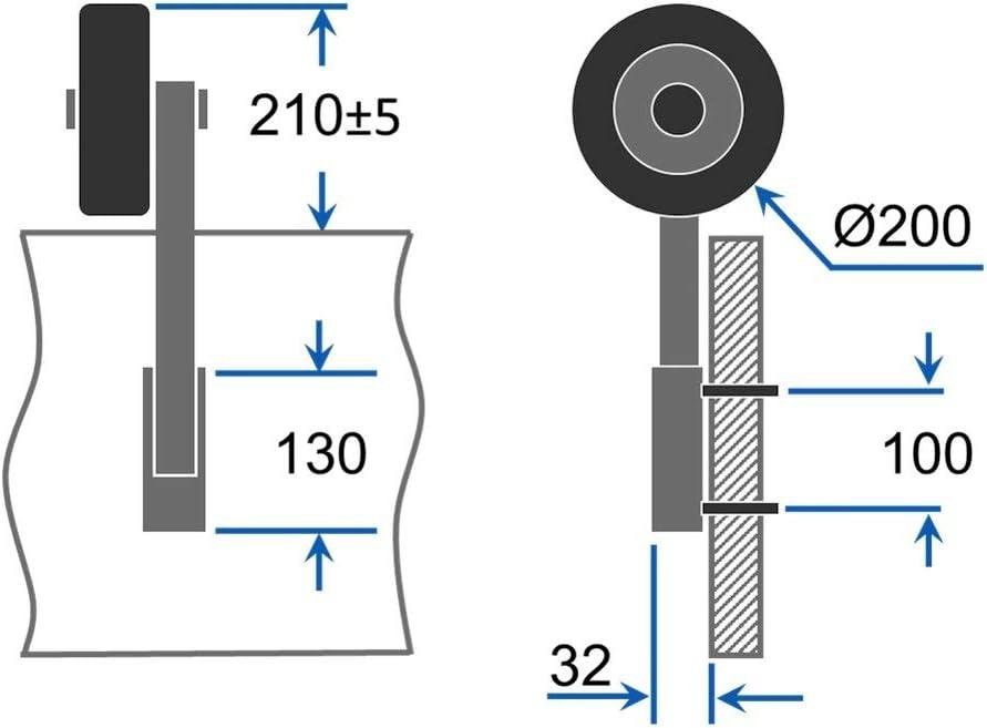 Edelstahl Heckräder Slipräder Schlauchbooträder Transporträder SUPROD HD200