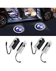 Car Welcome Light,WIGUOP Car Shadow Light, 3D Logo Ghost Shadow Light, Logo Projector Car Styling Welcome Lamp 4pcs