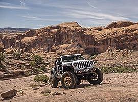 Rugged Ridge 11549.04 Arcus Front Bumper w//Winch Tray /& Tow Hooks 18-19 Jeep JL//JT